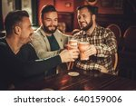 cheerful old friends having fun ... | Shutterstock . vector #640159006