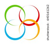 shape with overlapping circles... | Shutterstock .eps vector #640161262