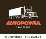 truck logo illustration on dark ...   Shutterstock . vector #640162615