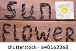 sunflower word from sunflower... | Shutterstock . vector #640163368