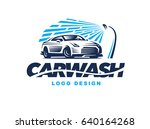 logo design car wash on light... | Shutterstock . vector #640164268