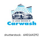 logo design car wash on light... | Shutterstock . vector #640164292