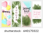 summer sale banners wallpaper ... | Shutterstock .eps vector #640170322