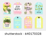 summer set of sale and gift... | Shutterstock .eps vector #640170328