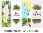 summer sale banners wallpaper ... | Shutterstock .eps vector #640170382