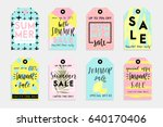summer set of sale and gift... | Shutterstock .eps vector #640170406