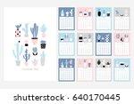 calendar 2018. stock vector.... | Shutterstock .eps vector #640170445