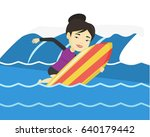 young asian woman having fun... | Shutterstock .eps vector #640179442