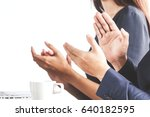 business people clapping hands... | Shutterstock . vector #640182595