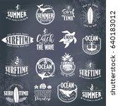 summer typography design... | Shutterstock .eps vector #640183012