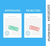 documents with approved stamp... | Shutterstock .eps vector #640185205
