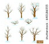 vector image. a set of winter...   Shutterstock .eps vector #640186555