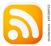 generic signal or rss feed icon.... | Shutterstock .eps vector #640186915