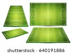 soccer field collection.... | Shutterstock .eps vector #640191886
