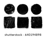 vector grunge shapes.grunge... | Shutterstock .eps vector #640194898