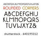 decorative sans serif font with ... | Shutterstock .eps vector #640195312