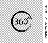 angle 360 degrees sign icon | Shutterstock .eps vector #640200082