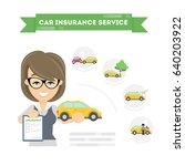 car insurance infographic. | Shutterstock .eps vector #640203922