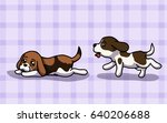 vector illustration two cute... | Shutterstock .eps vector #640206688