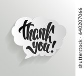 thank you calligraphy hand... | Shutterstock .eps vector #640207066