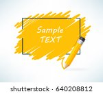 yellow color pencil and text... | Shutterstock .eps vector #640208812