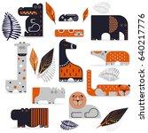 vector illustration. set of... | Shutterstock .eps vector #640217776