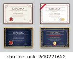 big set of diploma or... | Shutterstock .eps vector #640221652