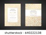 vintage wedding invitation... | Shutterstock .eps vector #640222138