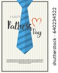 happy father day family holiday ... | Shutterstock .eps vector #640234522