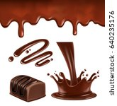 set of vector illustration hot... | Shutterstock .eps vector #640235176
