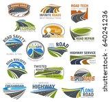 road  highway and freeway... | Shutterstock .eps vector #640241236