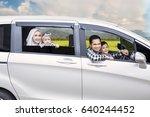 portrait of muslim family... | Shutterstock . vector #640244452