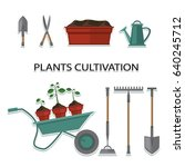 plant cultivation. set of... | Shutterstock .eps vector #640245712