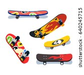 various skateboards views and... | Shutterstock .eps vector #640245715