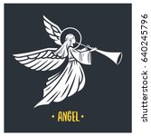 angel god. vector illustration. ... | Shutterstock .eps vector #640245796
