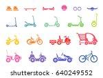 set of various types children s ... | Shutterstock .eps vector #640249552