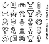 award icons set. set of 25... | Shutterstock .eps vector #640251112