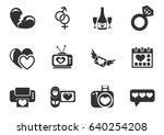 love web icons for user... | Shutterstock .eps vector #640254208