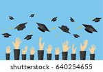 graduating students of pupil... | Shutterstock .eps vector #640254655