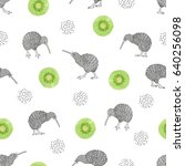 seamless pattern with... | Shutterstock .eps vector #640256098