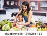 beautiful indian asian young... | Shutterstock . vector #640256416