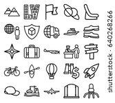 travel icons set. set of 25... | Shutterstock .eps vector #640268266