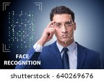 man in face recognition concept   Shutterstock . vector #640269676