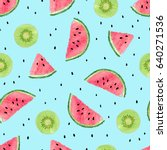 seamless pattern with... | Shutterstock .eps vector #640271536