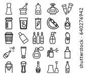 bottle icons set. set of 25... | Shutterstock .eps vector #640276942