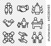 together icons set. set of 9... | Shutterstock .eps vector #640280485