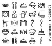 plate icons set. set of 25... | Shutterstock .eps vector #640280578