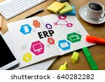 erp navigation business ... | Shutterstock . vector #640282282