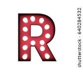 3d rendering red bulb type... | Shutterstock . vector #640284532