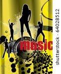 dance background | Shutterstock .eps vector #64028512